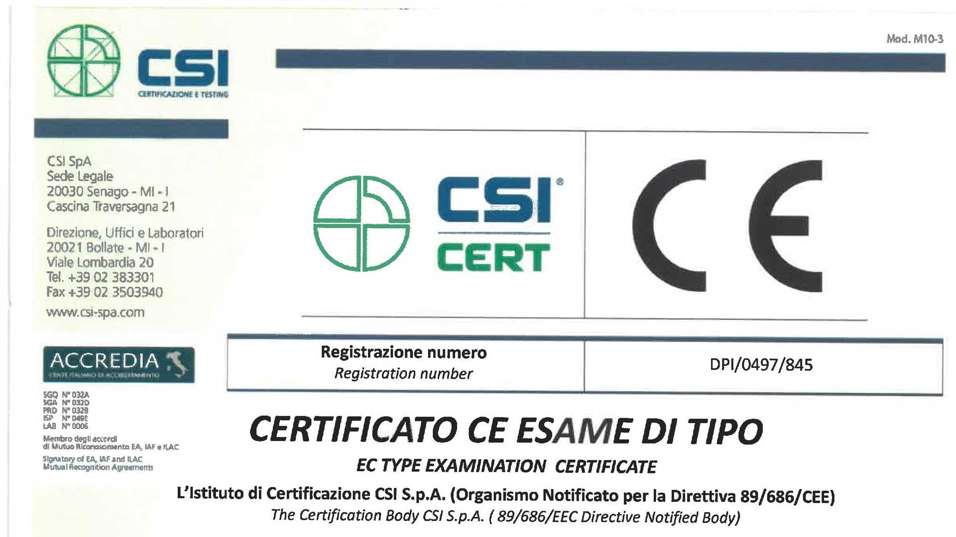 ヨーロッパ規格EN1077取得